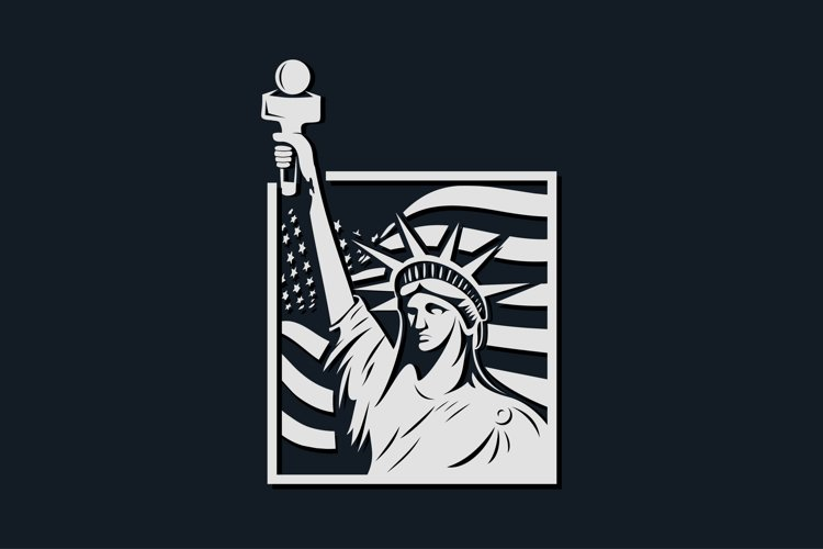 American mascot logo liberty vector illustration