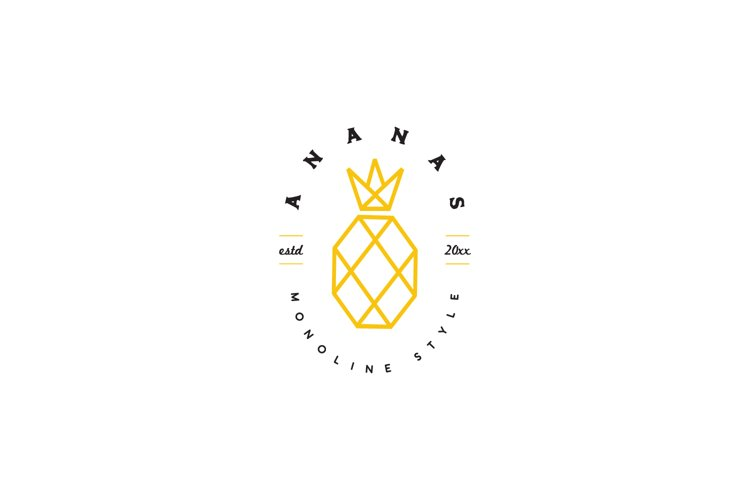 Pineapple Line Art Logo example image 1