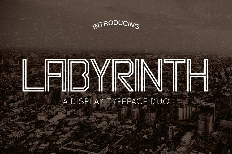 Web Font Labyrinth Typeface example image 1