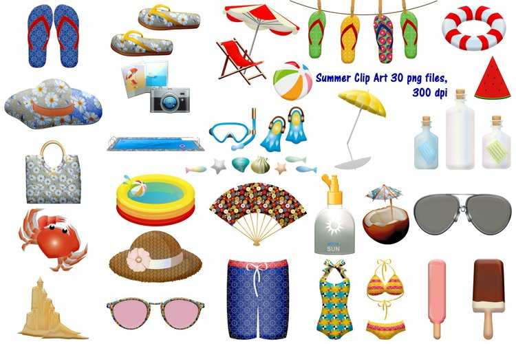 Summer Time Clip Art example image 1