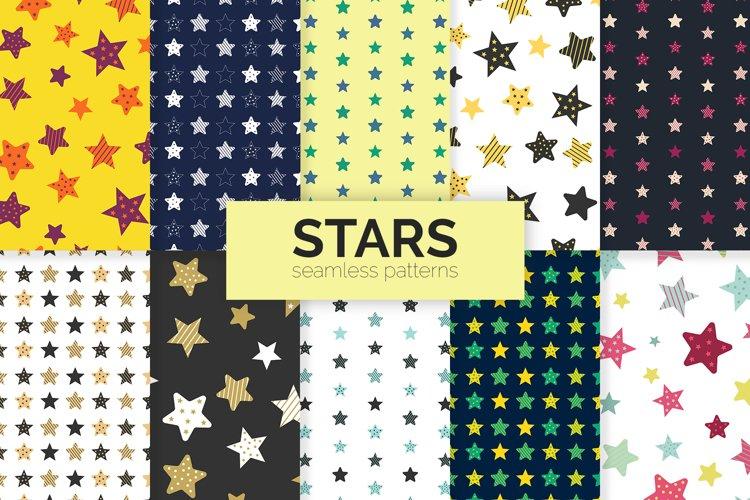 Stars Seamless Patterns example image 1