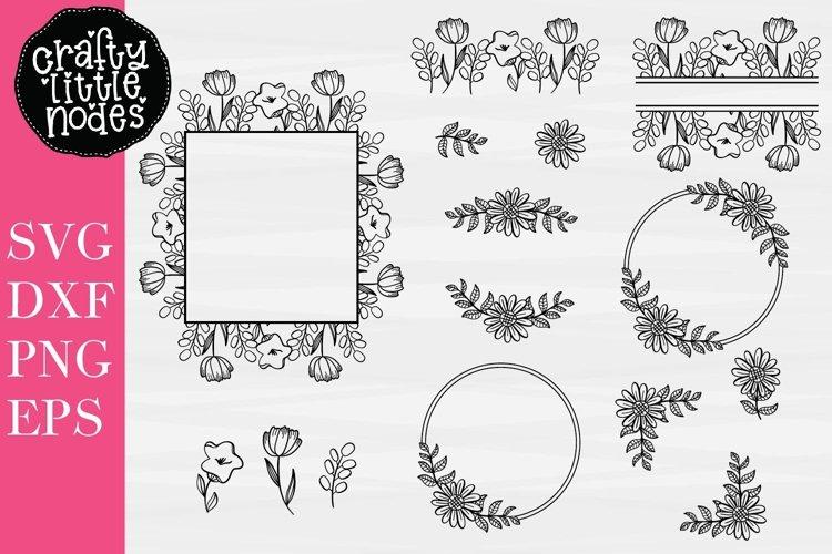 Floral Design Bundle - Perfect For Sign Making! - 15 SVGs