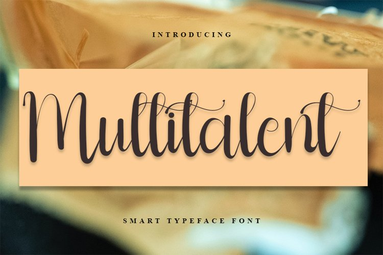 Multitalent Script Calligraphy Font example image 1
