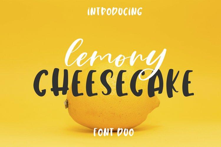 Lemony Cheesecake Font Duo example image 1