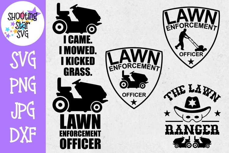 Lawn Enforcement Officer Bundle - Father's Day SVG example image 1