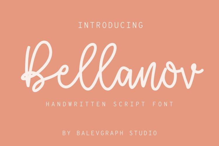 Bellanov Handwritten Script Font example image 1