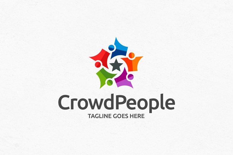 Crowd People Logo Template