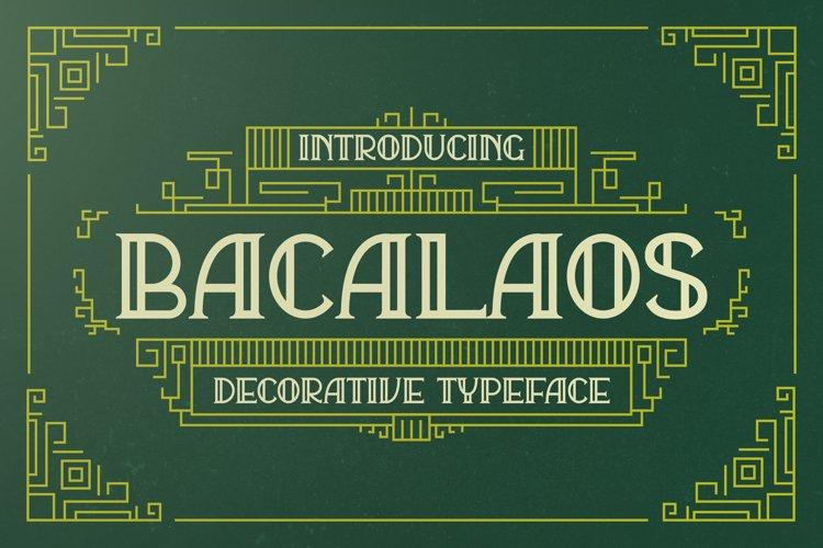 Bacalaos - Decorative Typeface