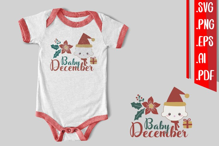 Baby December Svg Eps Ai Png example image 1