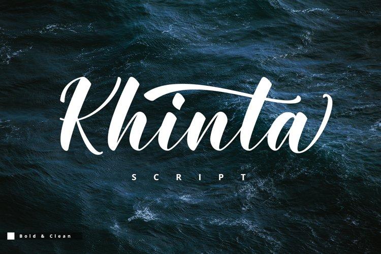 Khinta Script example image 1