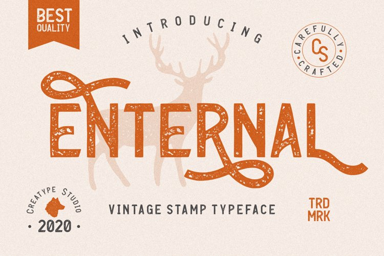 Enternal Vintage Stamp Typeface example image 1