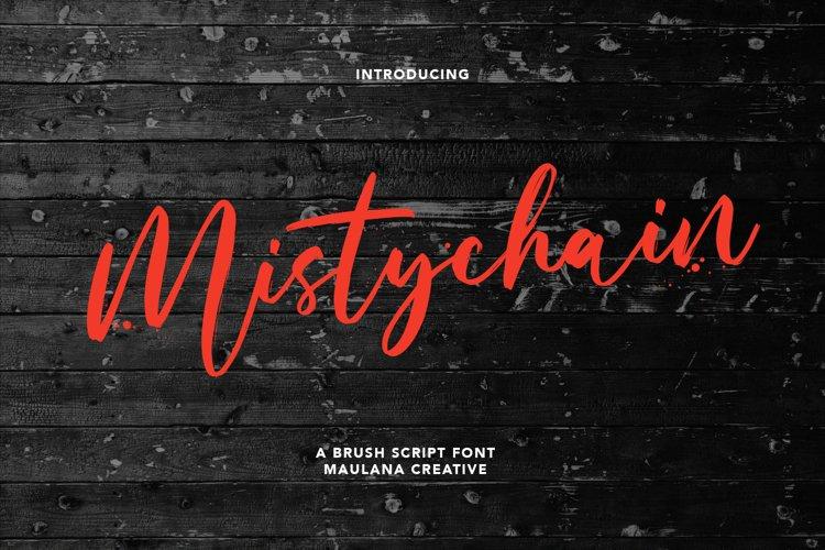 Mistychain Brush Script Font example image 1