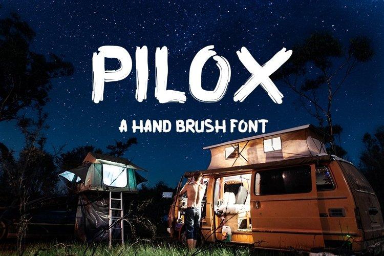 Web Font PILOX HANDMODE BRUSH STYLE example image 1