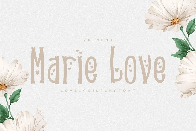 Web Font Marie Love Font example image 1