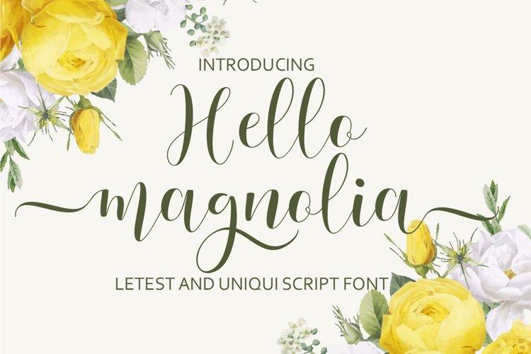Hello Magnolia example image 1