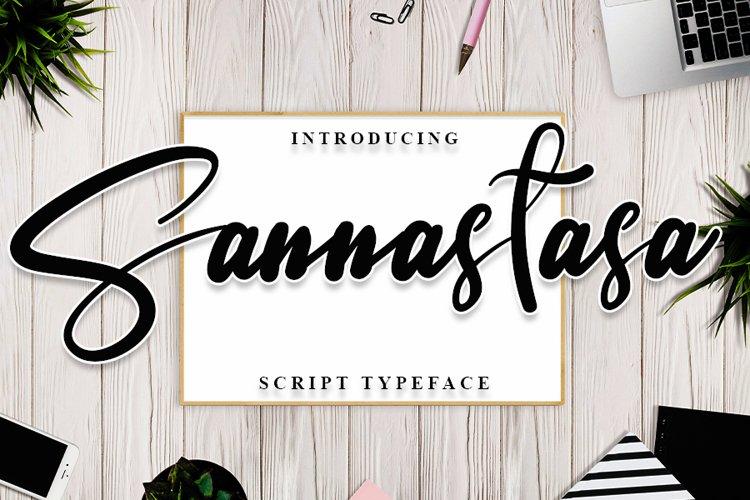 Sannastasa | Modern Typeface Font example image 1