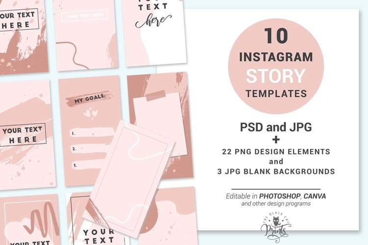 Boho Abstract Instagram Story Templates   Story Stickers example image 1