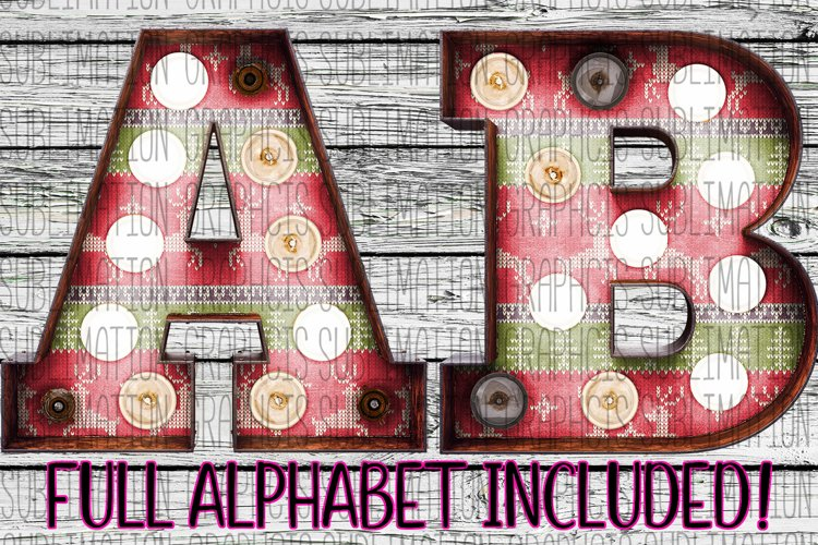 Ugly Sweater Marquee Alphabet example image 1