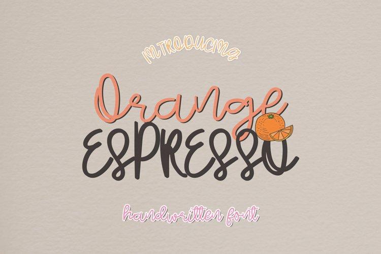 Orange Espresso - A Messy Handwritten Script Font example image 1