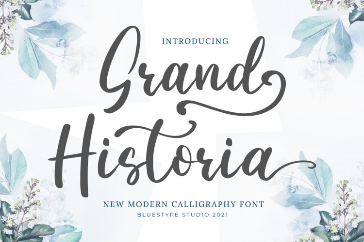 Grand Historia - A Beauty Script Calligraphy Fonts