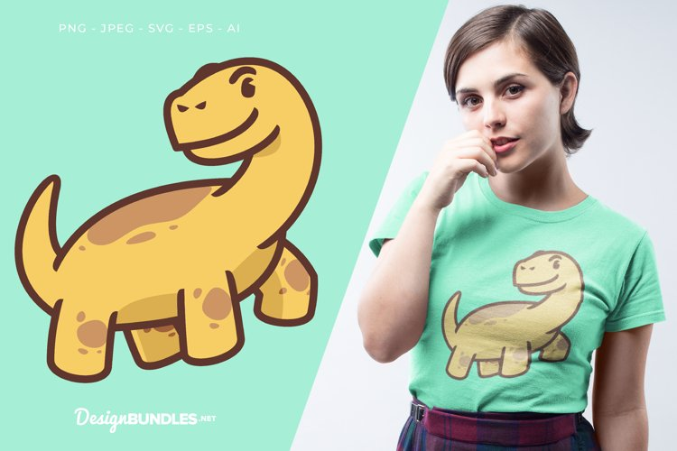 Happy Dinosaur Vector Illustration For T-Shirt Design