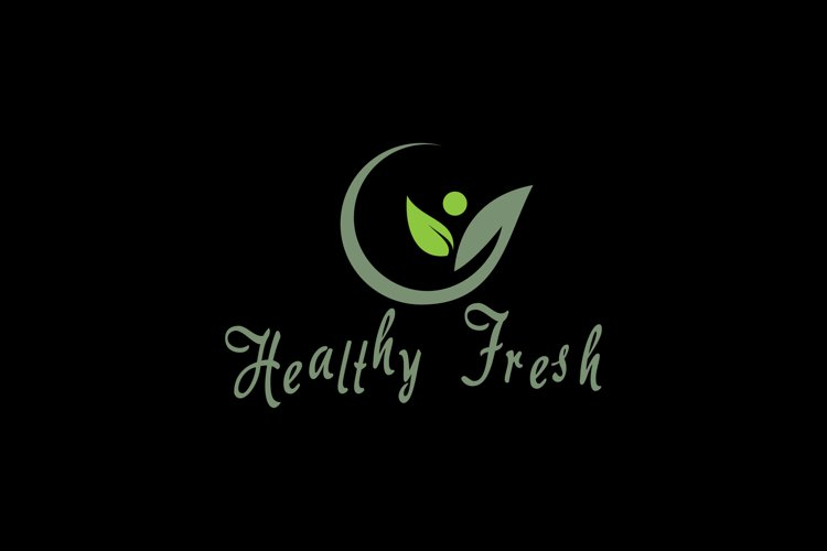 People and leaf for logo design inspiration example image 1