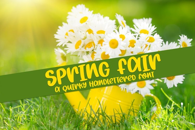 Web Font Spring Fair - A Quirky Hand-Lettered Font example image 1