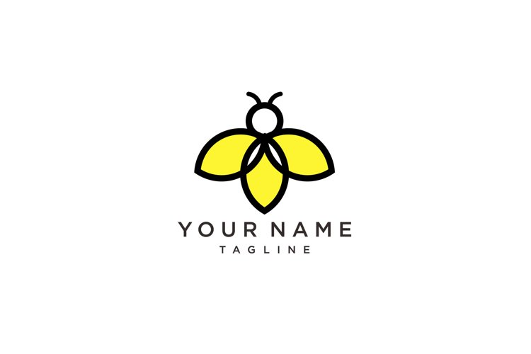 firefly logo vector icon template and Bee Logo design example image 1