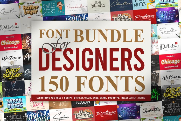 Font Bundle For Designers Vol 1 example image 1