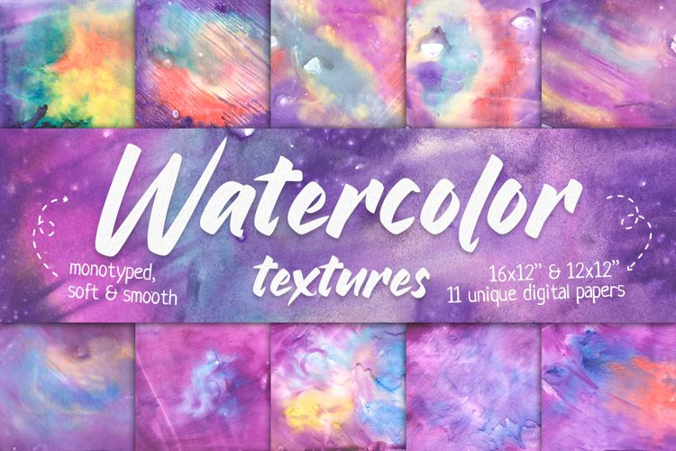 Watercolor Background Set, Sublimation Background Texture