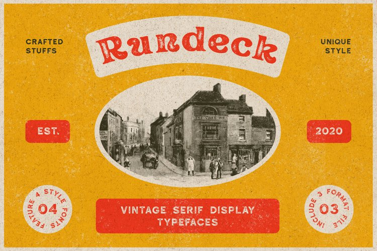 Rundeck - Vintage Texture Font example image 1