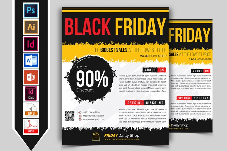 Black Friday Flyer Template Vol-03 example image 1