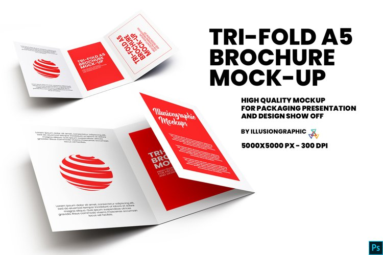 Tri-Fold A5 Brochure Mock-up example image 1