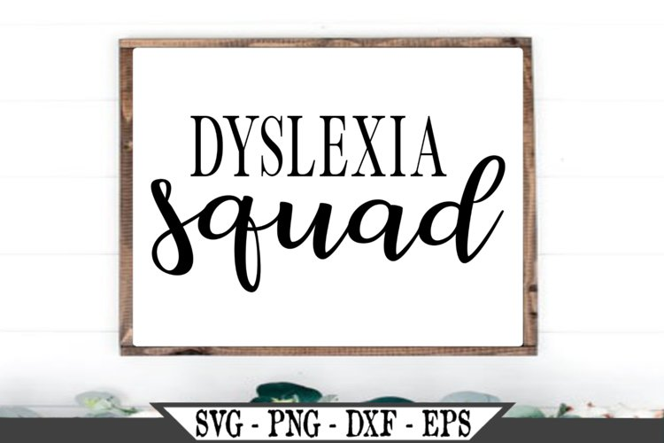 Dyslexia Squad SVG example image 1