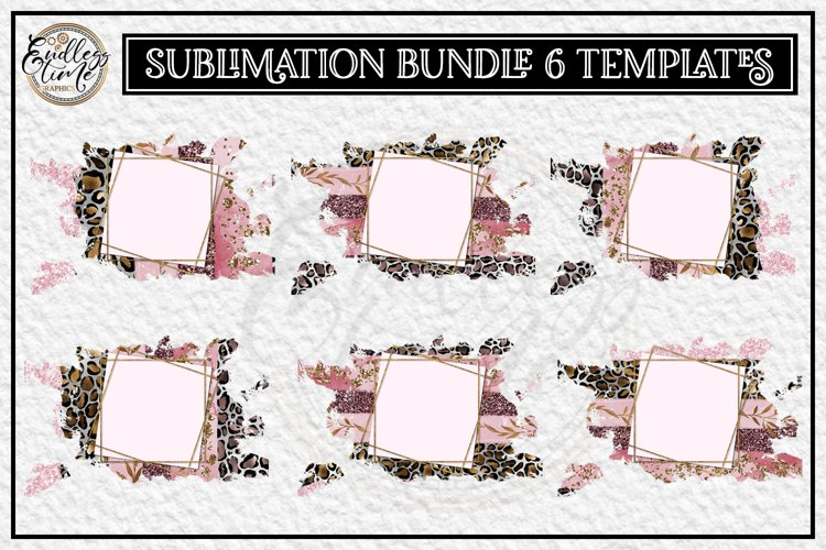 Leopard Sublimation Bundle |6 Pink Sublimation Templates