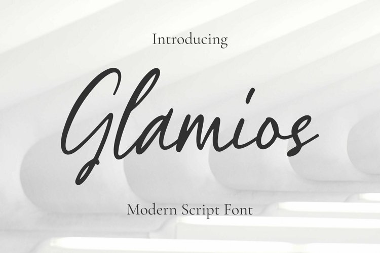 Web Font Glamios Font example image 1