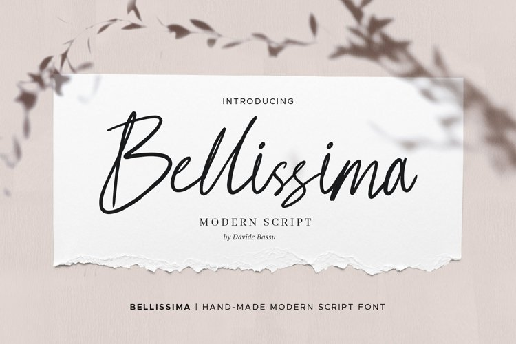 Bellissima - Messy & Modern script example image 1