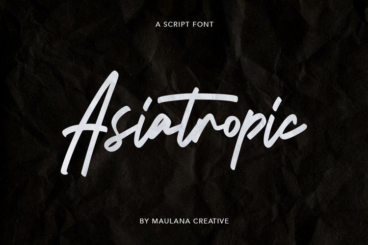 Asiatropic Script Font example image 1