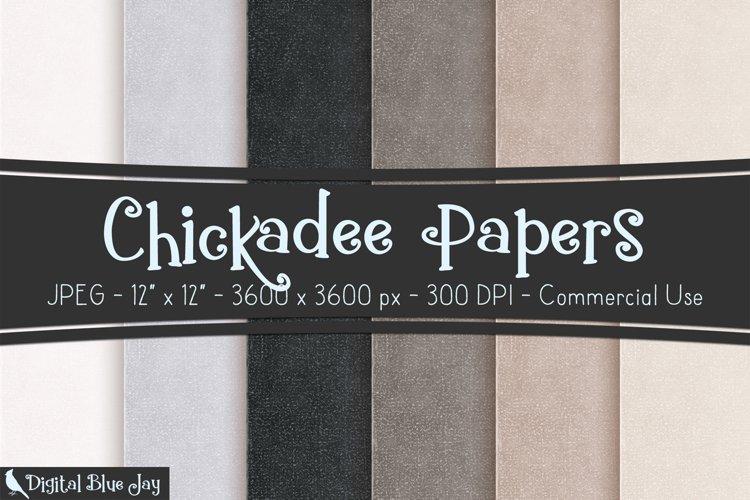 Digital Scrapbook Paper Backgrounds - Chickadee example image 1