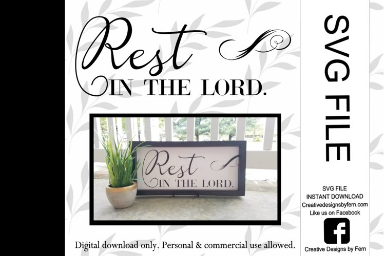Rest in the Lord SVG FILE example image 1