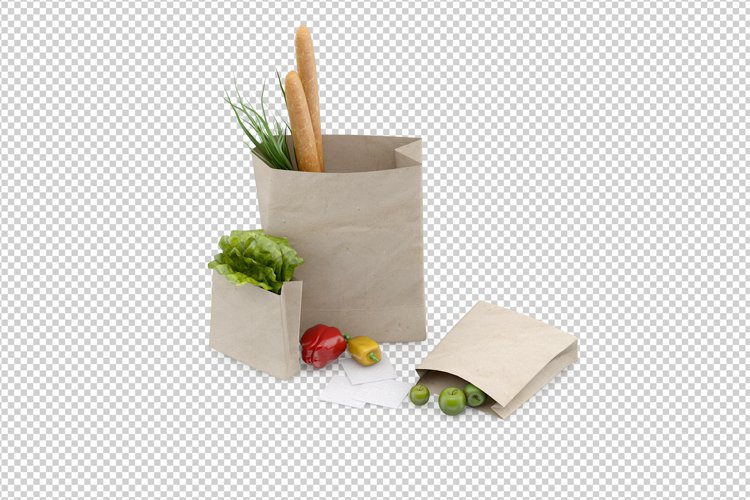 Isometric Vegetables 3D isolated render example image 1