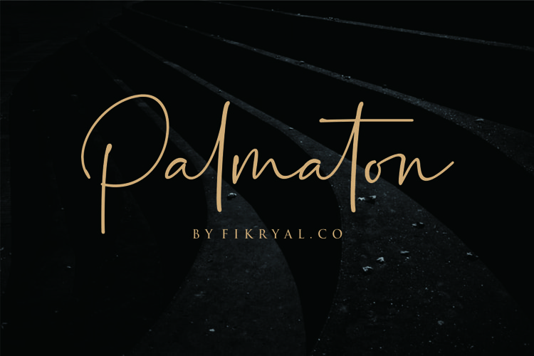 Palmaton - Handwritten font example image 1