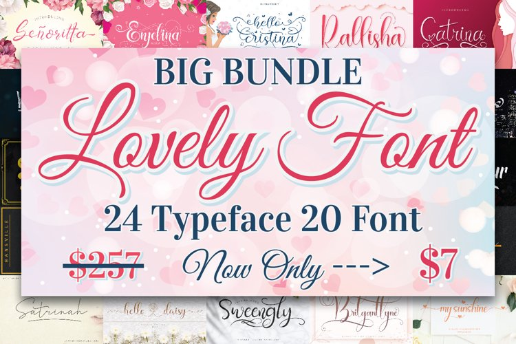 BIG BUNDLE - Lovely Font Collections