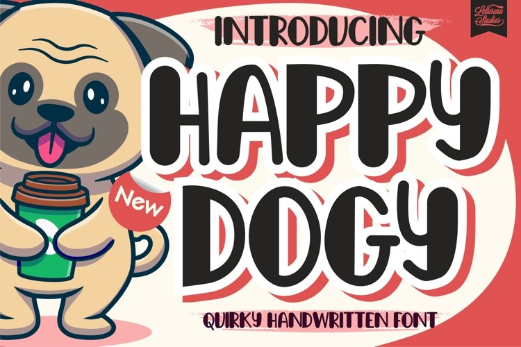 Happy Dogy - Quirky Handwritten Font example image 1