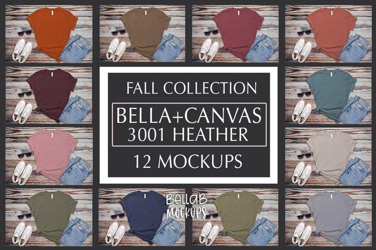 Bella Canvas T Shirt Mockup Bundle, Heather 3001-Autumn-Fall