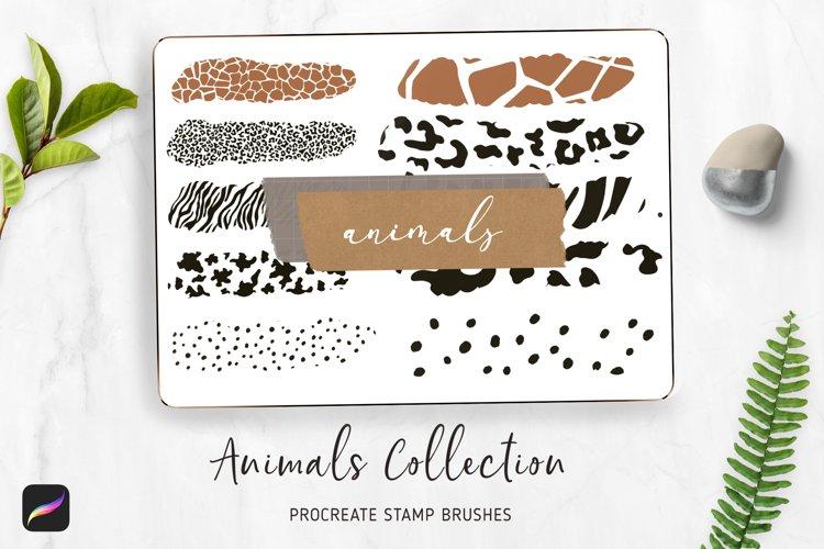 PROCREATE Animal Pattern Brushes | Wild Animals Footprint example image 1