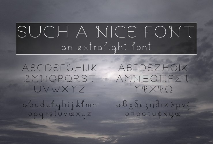Such a Nice Font