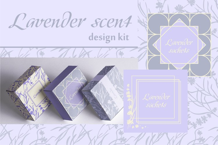 Lavender Patterns and Frames
