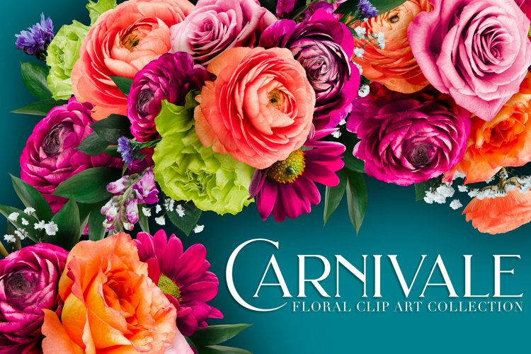 Carnivale Floral Clip Art Collection
