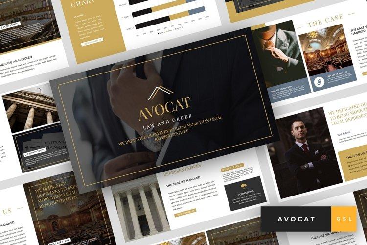 Avocat - Lawyer Google Slides Template example image 1
